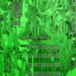Stock Photo: Green circuit board