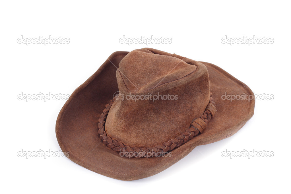 Suede cowboy hat, on white background photo — Stock Photo #2620331