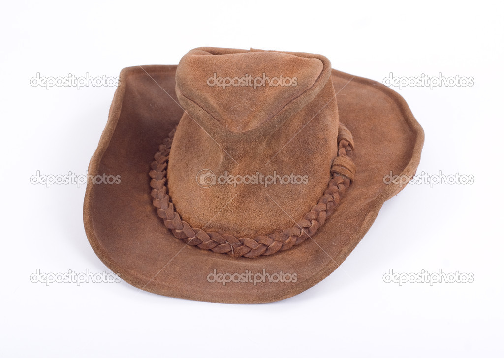 Suede cowboy hat, on white background photo — Stock Photo #2620333
