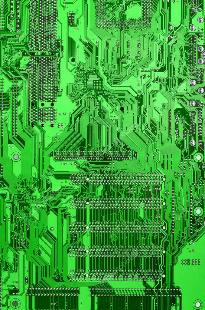 Green circuit board  Stock Photo #2620649