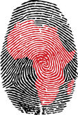 Africa-fingerprint — Stock Vector