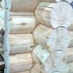 White wood, new house — Stock Photo
