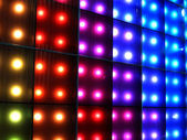 Colorful disco party lighting, abstract color background. — Stock Photo