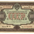 Vintage hundred soviet roubles, paper — Stock Photo #2069161