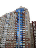 Urban building in megapolis — Stock Photo