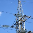 Постер, плакат: Electrical powerlines electricity pylon