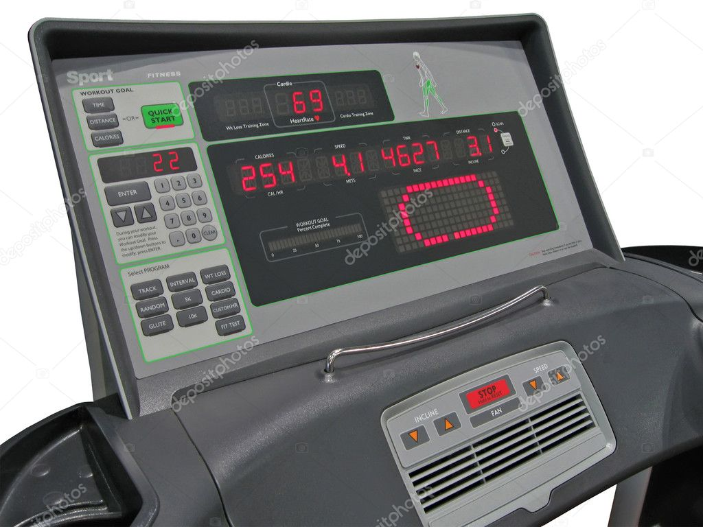 Digital control panel (led, lcd display) measure display fitness sport concept  Stock Photo #2080764