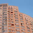 New urbhigh red building, satellites, — стоковое фото #2097412