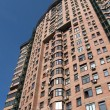 New high building, red brick, satellites — 图库照片 #2097586
