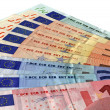 Stock Photo: Different colorful euro isolated,savings