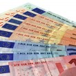 Different colorful euro isolated,savings — Stock Photo