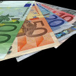 New colorful euro savings isolated — Stock Photo