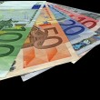 Stock Photo: New colorful euro savings isolated
