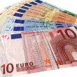 Different colorful euro isolated,savings — Stock Photo #2197339