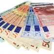 Different colorful euro isolated,savings — Stock Photo #2211706