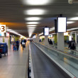 Abstract blurs airport structure - Stock Photo