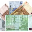 Different colourful euros  savings — Stock Photo
