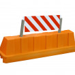 Orange stop security road barrier sign. — Stock Photo