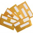 Yellow mail packages envelopes isolated — Stock Photo #2503422