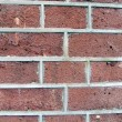 Red brown brick wall, cement, closeup stone texture. — Stock Photo #2504084