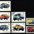 Royalty-Free Stock Photo: Post stamps with diesel/fuel heavy cargo