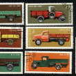 Vintage post stamps with diesel,gasoline - Stock Photo