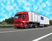 Diesel heavy cargo truck (fuel lorry) — Stock Photo
