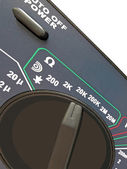 Digital multimeter,switch isolated — Stock Photo