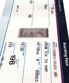 Grunge air ticket isolated,paper texture — Stock Photo