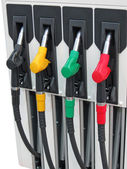 Colorful car fuel industry concept — Stock Photo