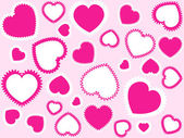 Pink hearts background — Stock Vector