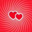 Two hearts twirl — Image vectorielle