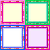 Color frames — Stock Vector