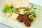Plate of antipasti — Stock Photo