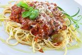 Italian pasta with ragu — Stock Photo