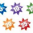 Royalty-Free Stock Imagem Vetorial: Vector stars for discount.
