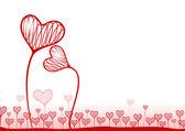 Vector fondo con corazones — Vector de stock