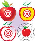 Apple as a target. — Stock Vector