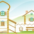 Royalty-Free Stock Imagen vectorial: COUNTRY HOUSE