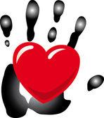 Hand_heart. — Stock Vector