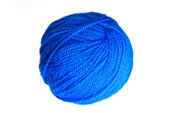 Blue yarn ball — Stock Photo