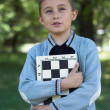 Young chess-player — Stock Photo