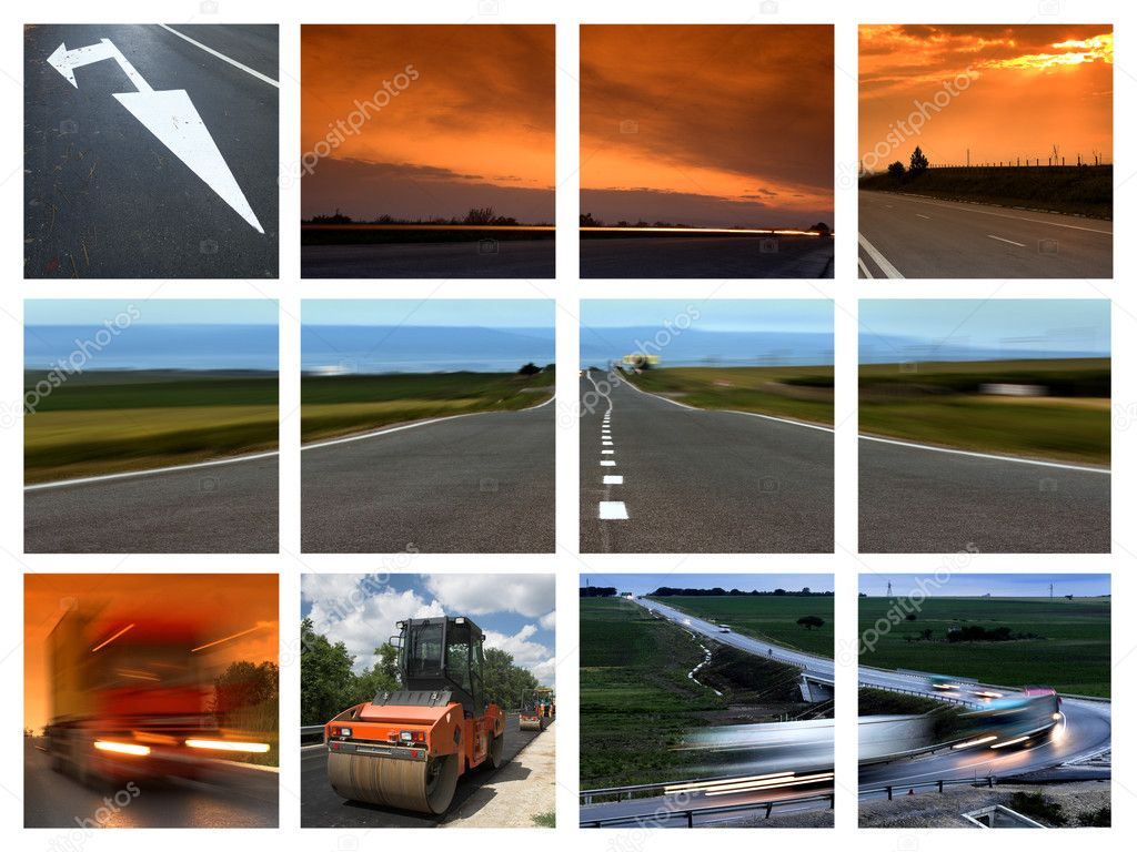 This is a  transportation themed collage — Stock Photo #1977763