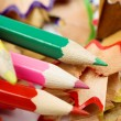Color pencils and chips — Stock Photo