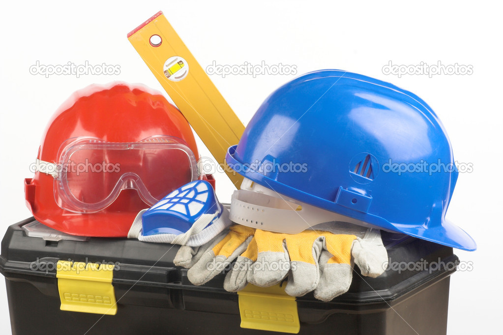 Safety gear kit close up — Stock Photo #2043366