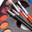 Stock Photo: Brushes and palette