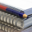 Stock Photo: Notebooks and pencil