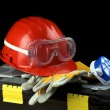 Stock Photo: Safety gear kit