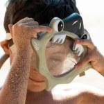 Boy with scuba masc — Stock Photo