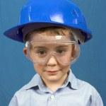 Boy in helmet — Stock Photo
